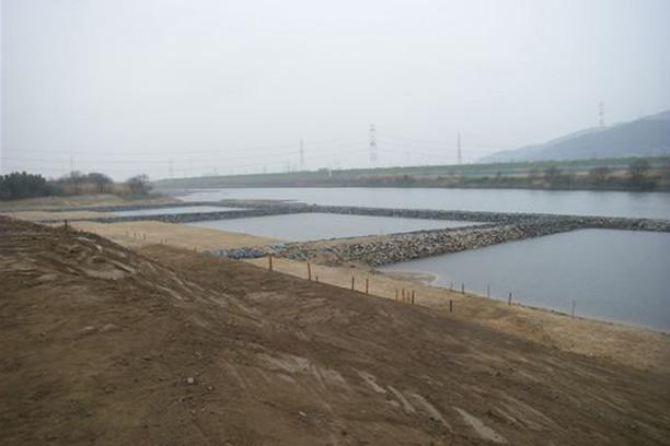 淀川河川敷ワンド築造工事